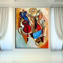 NO FRAME Printed GITA CUBIC ABSTRACT Oil Painting Canvas Prints Wall Painting For Living Room Decorations wall picture art