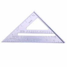 Speed Square Protractor Aluminum Alloy Miter Framing Tri-square Line Scriber Saw Guide Measurement Inch Carpenter Ruler Dropship