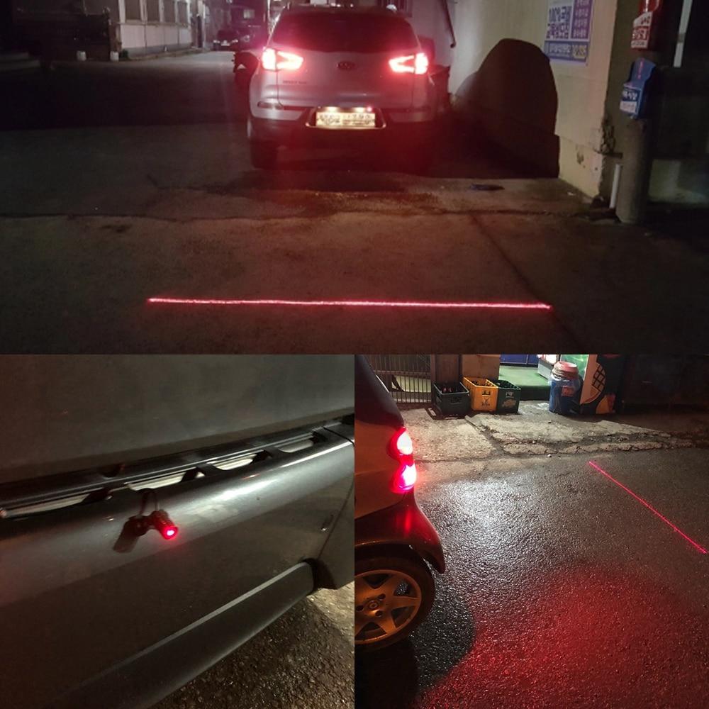 Hviero Car Led Anti Collision Car Laser Taillight Laser Fog Light Fog Lamp Warning Light Brake Parking Lamp Rearing Lamp DC 12V Bulb
