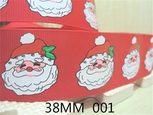 1.5''(38mm) Grosgrain ribbon Christmas,Santa Claus rabbit bunny leaf  St. paddys  happy easter holiday printed ribbon ,50Yc1104