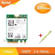 300Mbps Dual band Wifi + Bluetooth 4.0 For Intel 7265 7265NGW AN NGFF M.2 Wireless-N 2.4G 5Ghz Wi-fi Mini Wlan Card Fit Laptop(China)