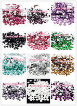 Lucia crafts 16 Colors for slection 5mm 500pcs/lot SS20 Flatback Rhinestones DIY Mobile Phone Nail Art Rhinestones 12040502(500)(China)