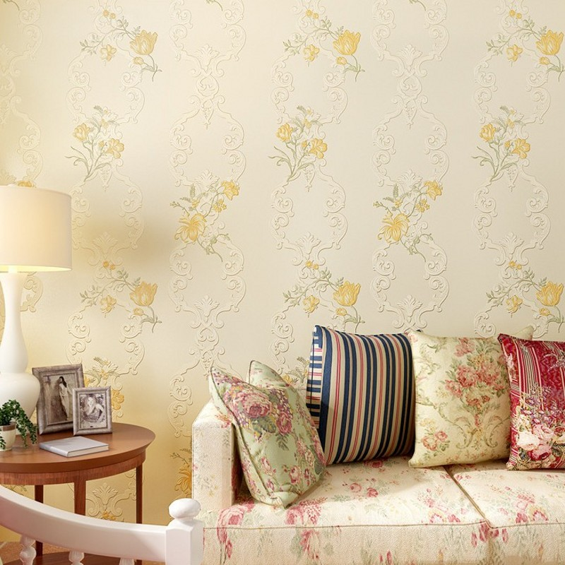 Free Shipping 3D Stereo Wallpaper Non - woven Wallpaper Warm Pastoral Bedroom Living Room TV Background Wallpaper<br>