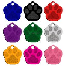 MOQ:20 pcs 2 Sides Paw Shape Customs Dog Name ID Tags Personalized Dogs Cats  Phone No. Pendant  (Don't offer Engrave Service)