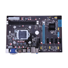 Desktop Motherboard Support 6PIC-E 4-Phase Power Supply Ext ATX Motherboard For BTC Mining Machine LGA 1150 Computer Mainboard(China)