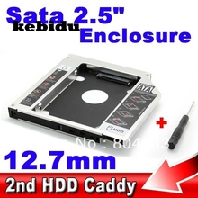 kebidu SSD HDD HD Hard Disk Driver External 2nd Caddy SATA 3.0 Case Enclosure for 12.7mm CD DVD ROM Optical Bay for Notebook(China)