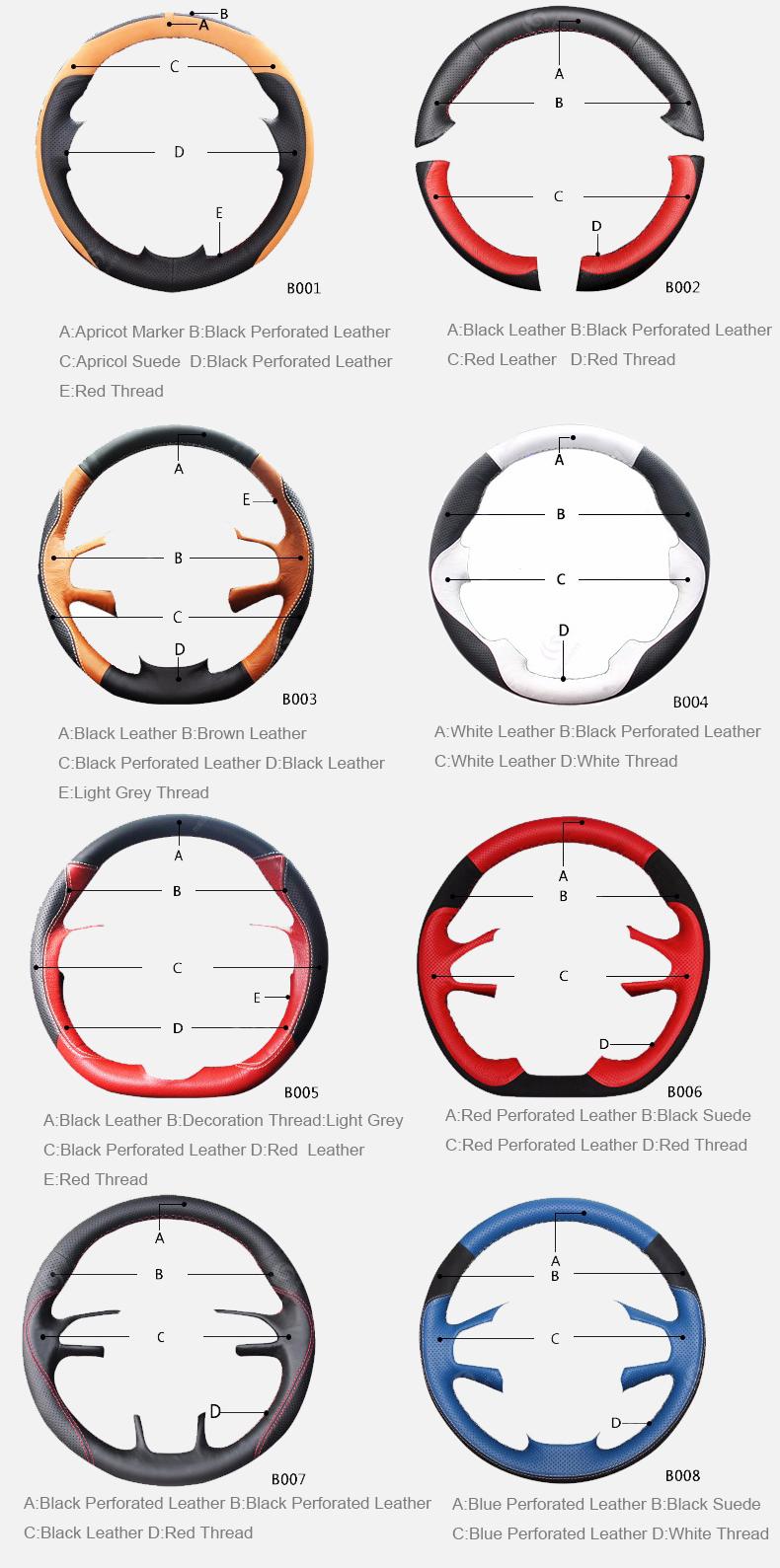 customization steering wheel cover style 02