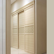 Product factory OPPEIN Latest Built-in Sliding 3 doors Bedroom Wardrobe Design YG11240(China)