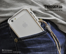 Trigger metal bumper for iphone 5 5s SE 4 4S M2 4th design premium Aviation aluminum bumper case for iphone5 SE tactical edition(China)