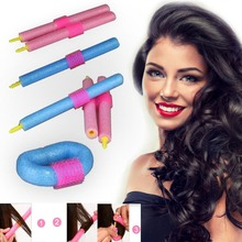Hot 12pcs/set Plastic Hair Rollers DIY Easy Hair Rollers Soft Foam Anion Bendy Hair Rollers Curlers Hair Styling Tool(China)