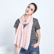 Voile Scarf For Women 2017 New Arrival Summer Autumn Long Women Shawls 80*200cm Vintage Colorful Striped Classic Female Scarves(China)
