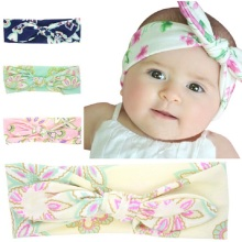 Kids Ear Headbands ElasticKnot Tie Headwrap Little girls Fashion Soft Bow Knot Headband Hair Accessories 1pc HB513