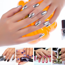 New 12 Colors Silver Effect Metal Nail Polish 6 ml Fashion Nails Art Tips DIY Manicure Design Gelpolish