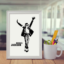 Black Michael Jackson Art Print Poster Wall Art Home Decor Dancer Decorative Nursery Micheal Jackson Wall Pictures Picture E152