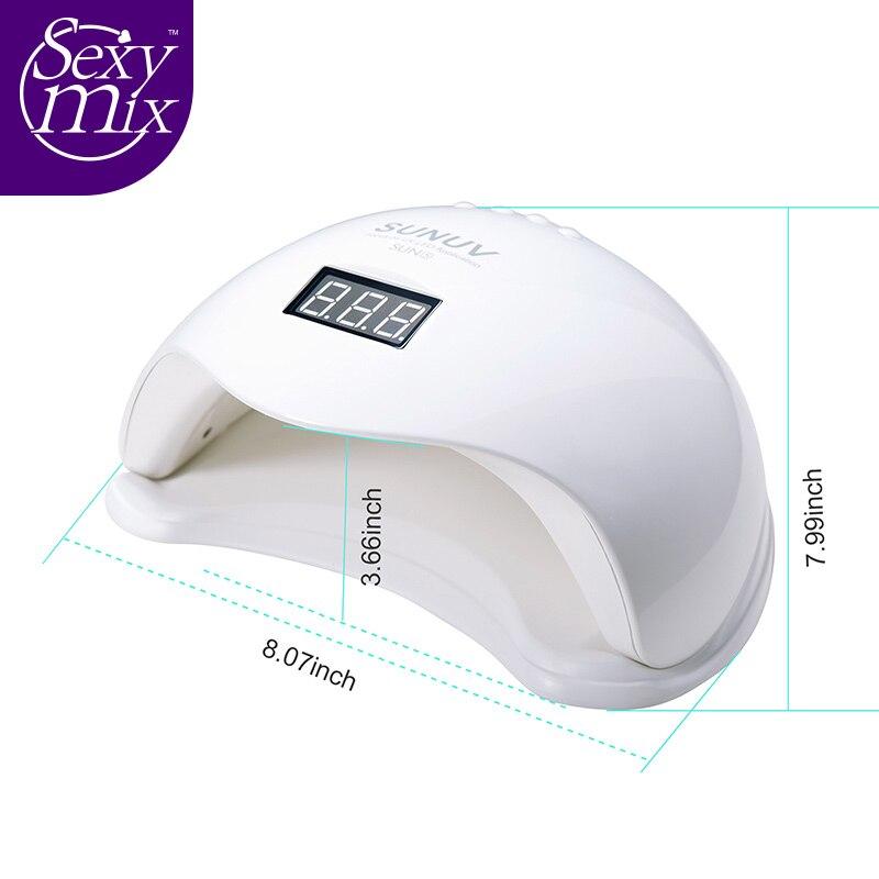 SEXY MIX UV LED Sun5 Nail Lamp Nail Dryer 48W Gel Polish Machine UV Light Nail Machine Safety Professional Personal Use<br>