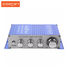 Zeepin 12V HY-2002 Hi-Fi Mini FM Auto Car Stereo Amplifier 2 Channel Audio CD DVD MP3 Speaker Input for Auto Motorcycle Home