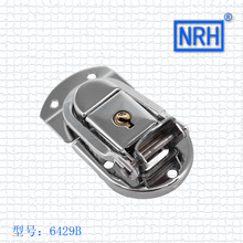 NRH 6429B steel chrome finish locking fastener toggle draw latch for briefcase & suitcase 2pack toggle latch wholesale price