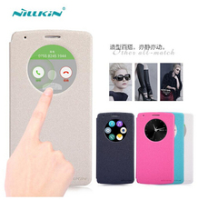 For LG G3 Flip Case NILLKIN Sparkle Series PU Leather Case For LG G3 D855 Retailed Package mobile phone cases protective cover(China)
