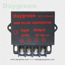 12V to 5V 10A 24V to 5V 10A (12V/24V to 5V 10AMP) 50W DC DC Converter Regulator Car Step Down Reducer Daygreen CE Certificated