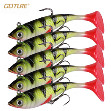 Goture 5pcs/lot 11g 8.5cm Soft Lure Artificial Bait Luminous Lead Fishing Jig Wobblers Fishing Lure Sea Fishing Tackle