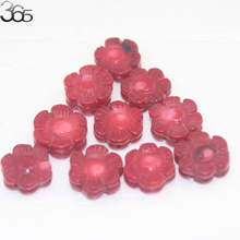 Free Shipping 10pcs 100% Real Natural 14mm Double Carved Flower Red Coral Gems Jewelry Making Beads Spacer 10 Pcs(China)