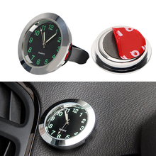 Car Clock Ornaments Mechanics Quartz Mini Car Air Vent Clip Clock Watch Car-Styling Auto Decoration Black Silver(China)
