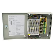 AC 100~240V to DC 60W 12V 5A Output 9 Channels CCTV Power Supply Box for Cameras