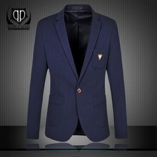 KALIPPE YACOCHY Brand Blazer Men Casual Slim Blazers New Arrival Fashion Bird Decoration Single Breasted Men Suit Jacket Plus