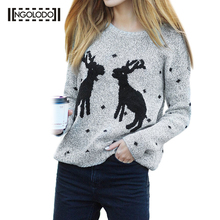 2017 Autumn Winter Women Cotoon Sweaters And Pullovers Plaid Thick Knitting Mohair Sweater Female Loose Variegated Red Coat(China)