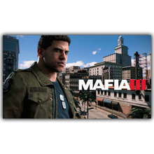 Mafia 2 3 Silk Fabric Canvas Poster Print 12x21 20x35 inch Video Game Class Home Decor Wallpaper YX736(China)