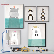 Cartoon Animals Canvas Art Print Painting Poster, Wall Picture for Home Decoration, Wall Decor FA400(China)