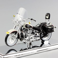 1/18 scale kids Harley Classic 1993 FL STN Heritage Softail Nostalgia diecast motorcycle miniature Cruiser Touring bike gift toy