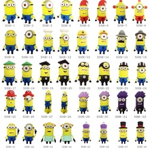 Cartoon Minions USB Flash Drive PVC pendrive 1gb 2gb 4gb 8gb 16gb 32gb flash disk Pen Drives 100PCS/LOT(China)