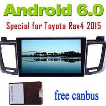 android6.0 Car Stereo for Toyota RAV4 2015 in Dash Car no DVD Player GPS Navigator Headunit FM Radio Auto video Audio wifi