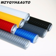 152X10cm 4D Carbon Fiber Vinyl Film 3M Car Stickers Waterproof DIY Motorcycle Car Styling Accessories Wrap With Air free bubbles(China)