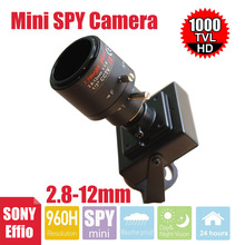 Vanxse CCTV Sony Effio 1000TVL 960H 2.8-12MM Varifocal Zoom Lens Security camera D/N Mini surveillance Camera