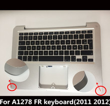 "13"" Laptop For Macbook Pro A1278 MC700 MD101 FR Top Case French palm rest Case Keyboard With BL 2010 2011 2012 Years"