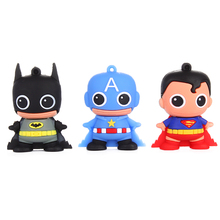 Super Hero usb flash drive pendrive stick usb 2.0 usb 3.0 phone the tablet a pen smartphone pendrive USB gift 32MB 4GB 8GB 16GB(China)