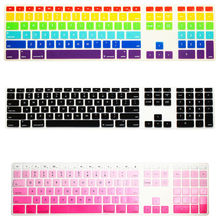 For Apple iMac Desktop Protector Flim Colorful Silicone Keyboard Cover Skin With Numeric Keypad For Apple iMac G5/G6(China)