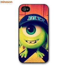 minason Mike Wazowski Cover case for iphone 4 4s 5 5s 5c 6 6s 7 8 plus samsung galaxy S5 S6 Note 2 3 4 H3061(China)