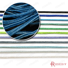 (29756)50 Meter Width 2MM Polyester Cord Button Cord Concave Rope Diy Jewelry Findings Accessories