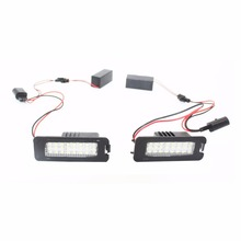 2X 18 LED Canbus Auto Number License Plate Light Car Styling Lamp Bulbs For VW Altea EOS Polo Passat Skoda Superb Golf 5/6/4