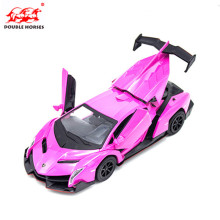 The latest hot alloy die casting 1 / 32 alloy car model Double Horses electronic acoustic pull back car model boy toys Boy Gift(China)