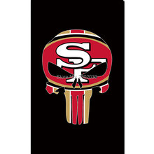 San Francisco 49ers Custom Your Text Flag 3ft X 5ft Polyester Black SF Banner 2016 World Series Champions San Francisco 49ers(China)