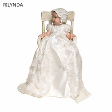 2016 Hot Sale Ivory color and To the Length of the New Birthday Baby Dress Baby Girl Christening Gowns Baby Girl Baptism Dresses