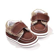 Comfortable Kids casual shoes Toddler Boy Soft Sole Crib Single Buckle Cotton Crib Shoes Pre Walker for Men Baby Gift  88 YH-17