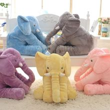 60cm Fashion Baby Animal Elephant Style Doll Stuffed Elephant Plush Pillow Kids Toy for Children Room Bed Decoration Toys(China)