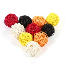 20Pcs/set 3.3cm Decorative Rattan Balls Ornaments Wedding Christmas Birthday Party Decor Home Ornament Home Decoration(China)