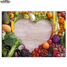 Full square Diamond Painting Cross Stitch Love Healthy Food,Fruits,5D Diamond Embroidery,diamond Mosaic stickers home decor(China)
