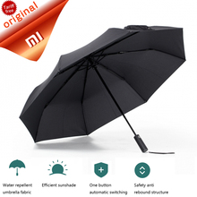 Buy Newest Xiaomi Mijia Automatic Folding Opening Aluminum Umbrella Windproof Waterproof Sunny Rainy Days UV 50+ Mi Umbrella for $26.22 in AliExpress store